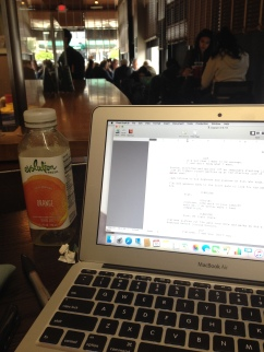 writing, Captain and the Greyhound, Starbucks, screenplay, writing process