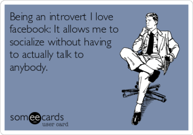 introvert, social media